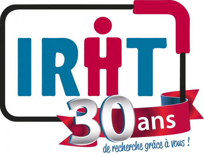 Logo Anniversaire 30 ans de l'IRHT